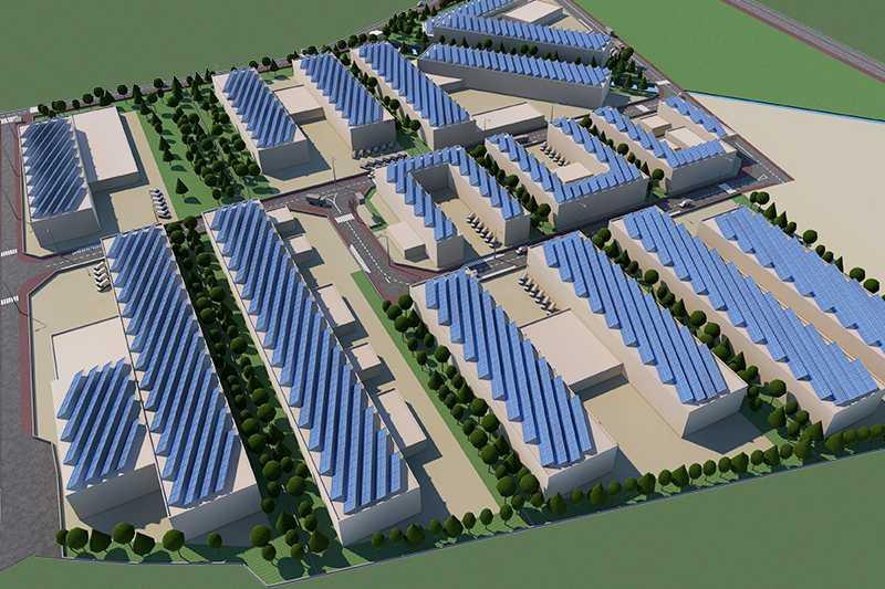 Завършиха строежа на Индустриална зона
