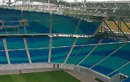 ОБО кабелоносещи системи в новия централен стадион на Лайпциг