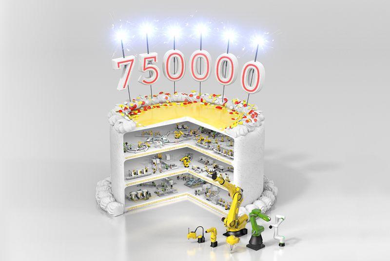 <strong>FANUC</strong> произведе 750 000-ия си робот