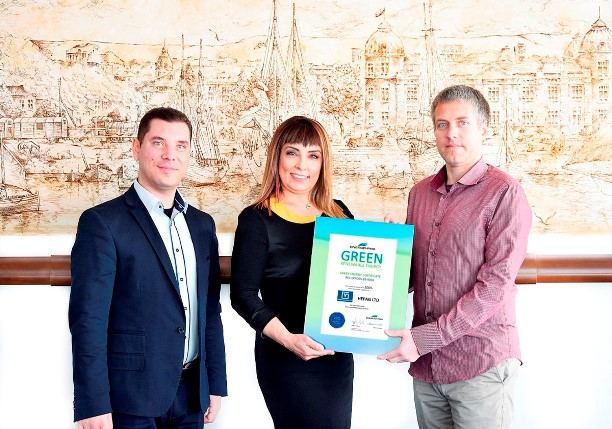 Енерго-Про връчи удостоверение за зелена енергия на Варна Конфекция