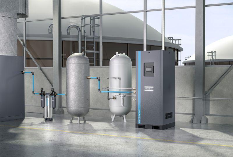 Atlas Copco осигурява потреблението на кислород на място с генератор OGP+